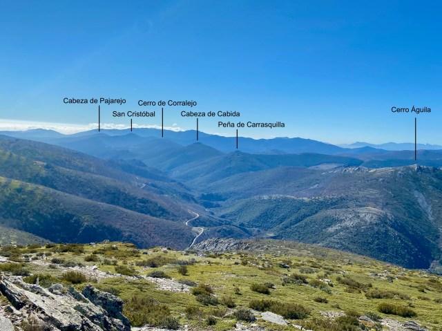 Cerros del margen occidental del Cañón del río Jaramilla.