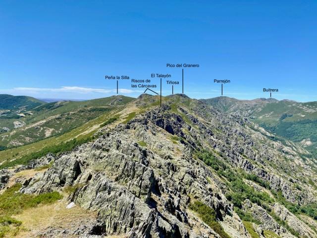 Cresta del Dragón desde la cima occidental de El Corralón (1916 m)