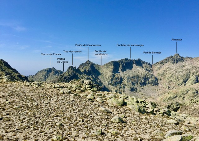 Segmento S del Circo de Gredos desde la cima inferior de los Altos del Morezón.