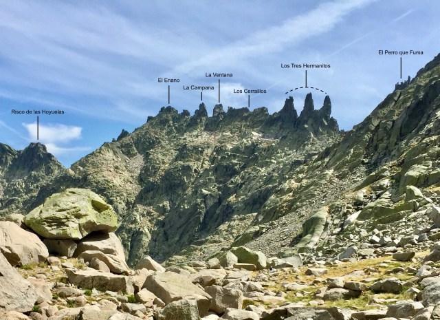 Zoom de Los Tres Hermanitos.