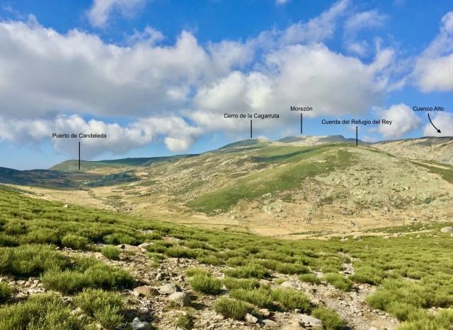 Vista del la Garganta de Prado Puerto desde el Collado de las Fuentes (1981 m).
