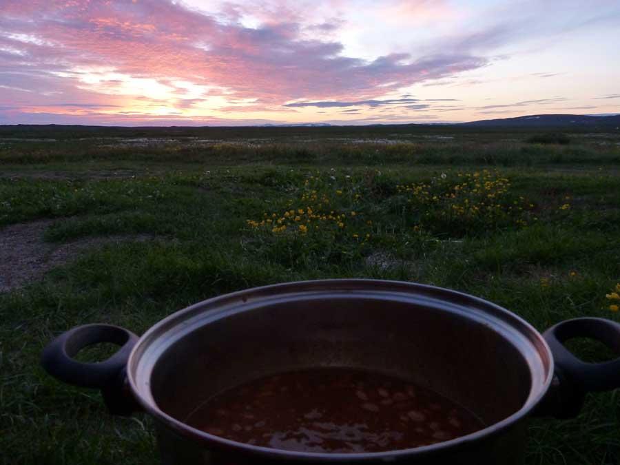 Islandia sol medianoche