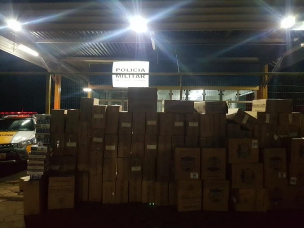 Caminhoneiro é detido com toneladas de cigarros contrabandeados em Paracatu
