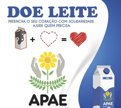 """APAE de Vazante divulga resultado da """"Campanha do Leite"""" da Sexta-feira Santa"""