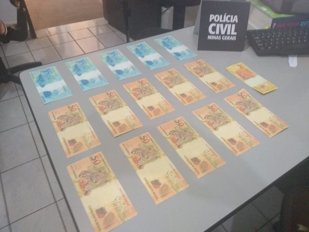NOTAS FALSAS : Jovem recebe dinheiro falso pelos Correios e é preso em flagrante em Patrocínio