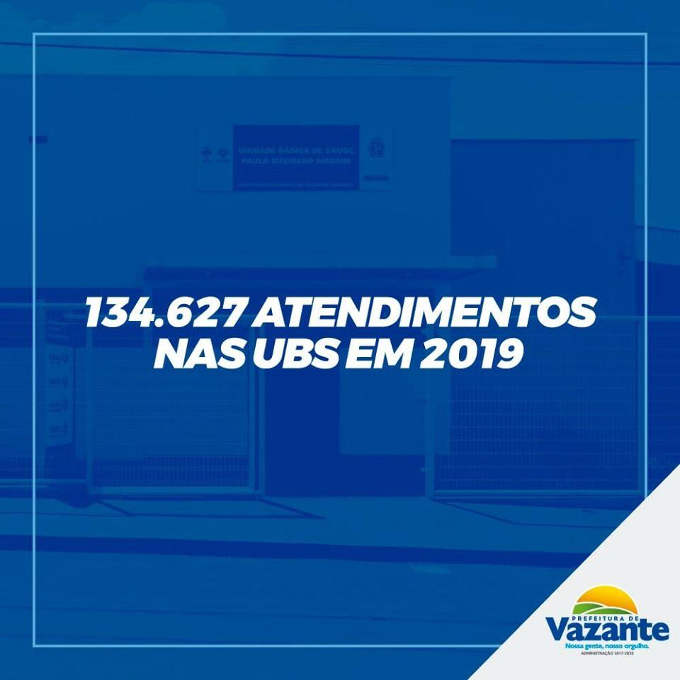UBS's de Vazante são responsáveis por 134.627 atendimentos em 2019