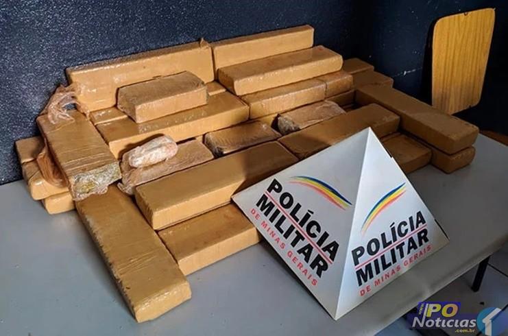 Polícia apreende grande quantidade de maconha em fundo falso de pick-up em Patos de Minas