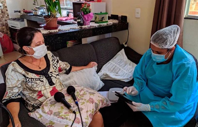 Pesquisadores do Ibope começam testes rápidos e já encontram caso positivo de Covid-19 em Patos de Minas