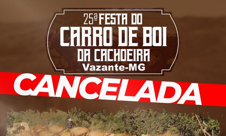 Festa do Carro de Boi da Cachoeira é cancelada e nova data é divulgada para 2021