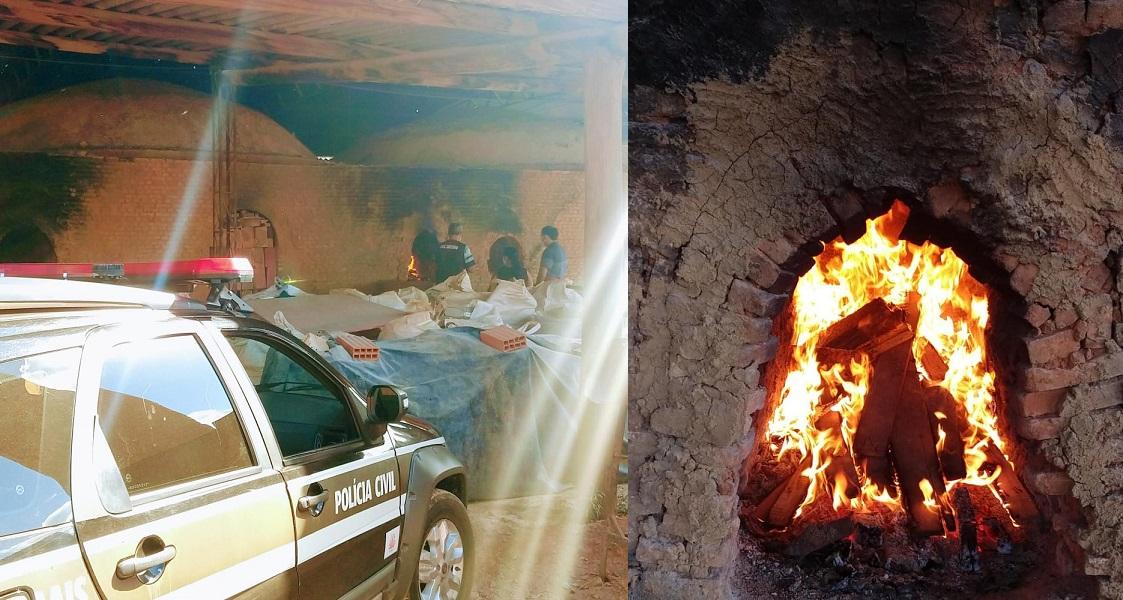 Polícia Civil incinera drogas apreendidas em Vazante