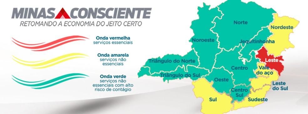 Macrorregiões do Triângulo do Norte, do Sul e Noroeste de MG permanecem na Onda Verde do Minas Consciente pela terceira semana seguida