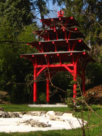 Japanese garden in Geneva's Jardin Botanique © montblancfamilyfun