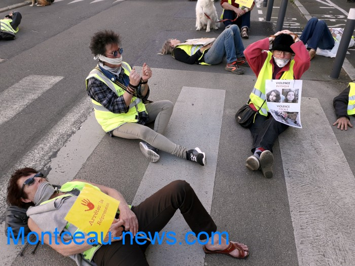 manifestation gilets jaunes Magny non violence police gouvernement Montceau-news.com 30031916