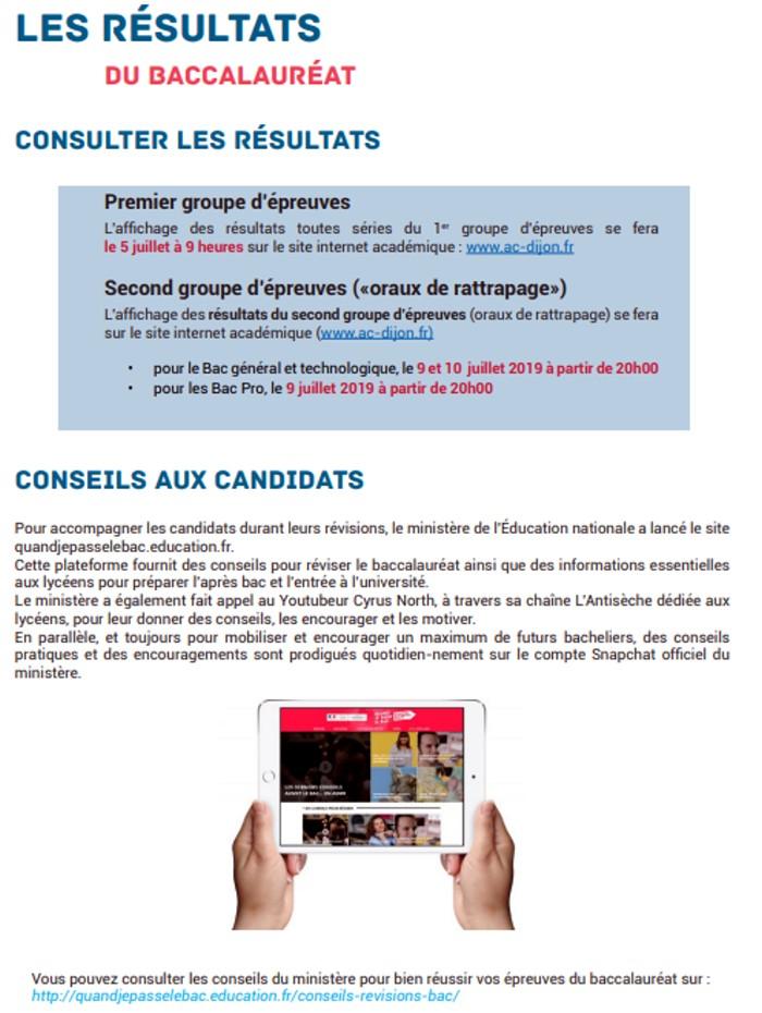 presentation Bac baccalaureat 2019 rectorat Dijon organisation concours examen lutte fraude triche Montceau-news.com 1306192