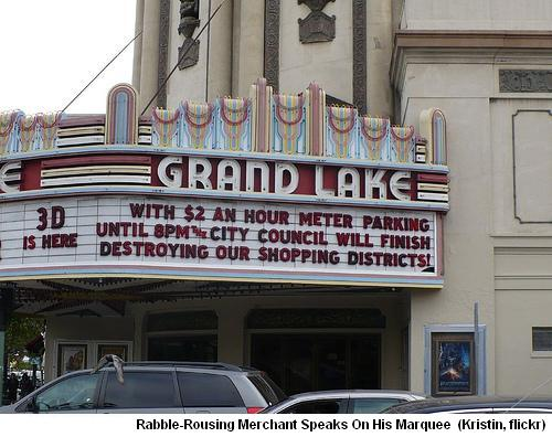 Grand Lake Marquee, Parking Changes