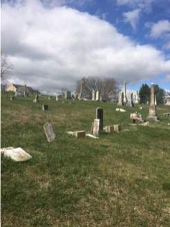 The centuries-old Central Cemetery on Lawrence Street, although surrounded by caring neighbors, tended by civic groups, explored by historians, students and helpful citizens, has been damaged by vandals.