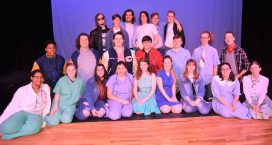 The cast of The Outsiders is pictured above: front row (left to right) Alaya Lewis, Cara Couch, Monica Fawzy, Samantha Cospel, Natalie Miller, Caitlyn Clements, Izzy Cromer, Ellen Howard, Julianne Clements; middle row (left to right) Greg Douglas, Drew Dodson, Brennan O'Reilly, Nathan Filipiak, Andrew Van Dyke, Rigil Smith, Will Doss; back row (left to right) Malaki York, Nate Birchfield, Eli Cook, Nicklas Bissey, Jack Slaughter and Jackson Hatcher. Not pictured: Caleb Carter, Nico Rensberger, Johnny Srathongyd, Layna Webb and Ashlee Ramey.