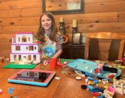 Lyla Causin, 6, built the best LEGO home in the 6-8 age group.