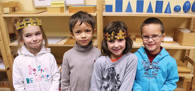 galette des rois à l'école Montessori Internationale de Bordeaux