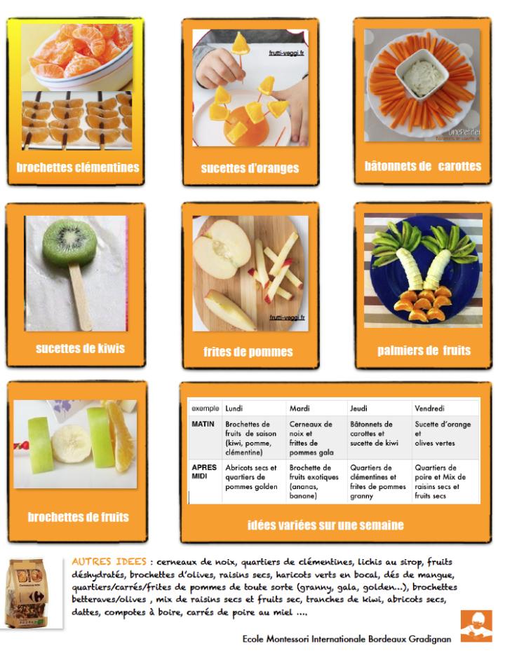 snack Montessori fruitée