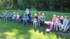 déjeuner - parc Majolan - école Montessori Internationale Bordeaux
