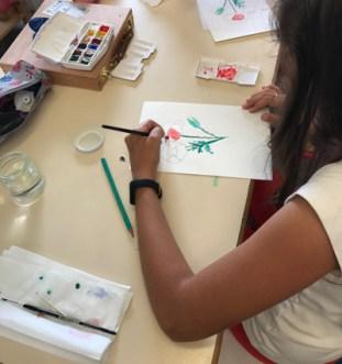 Montessori International de Bordeaux-Gradignan aquarelle lavis