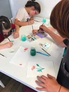 Montessori International de Bordeaux-Gradignan aquarelle collège