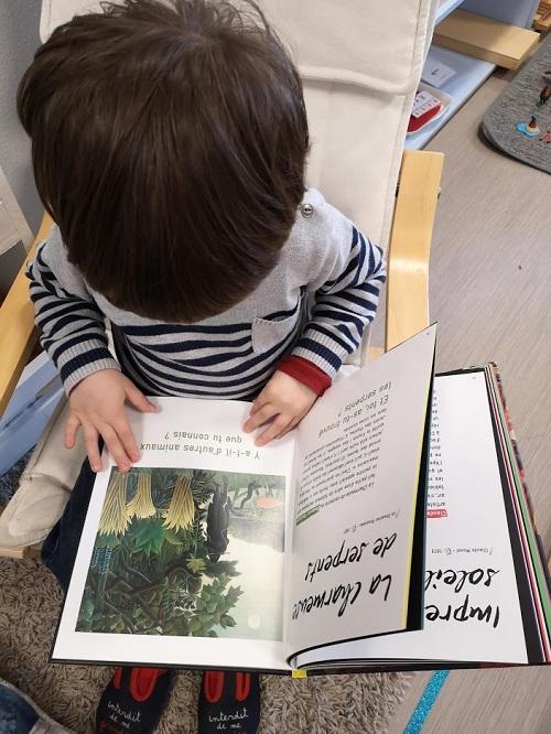 lecture livre d'art Montessori