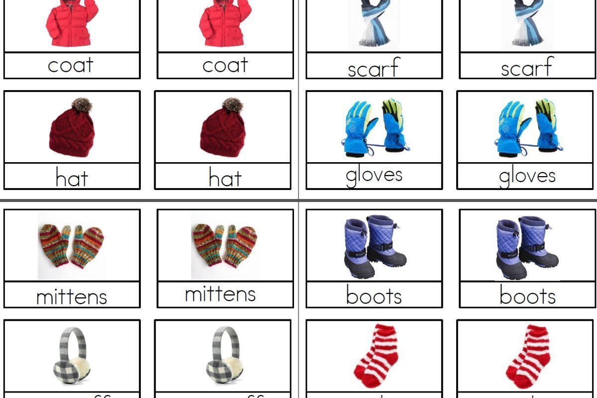 Winter Clothing Montessori 3 Part Cards Montessori By Katie