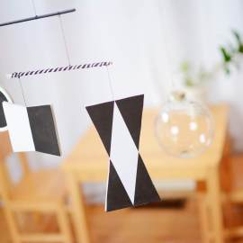 The Easiest Way to Hang a Montessori Baby Mobile