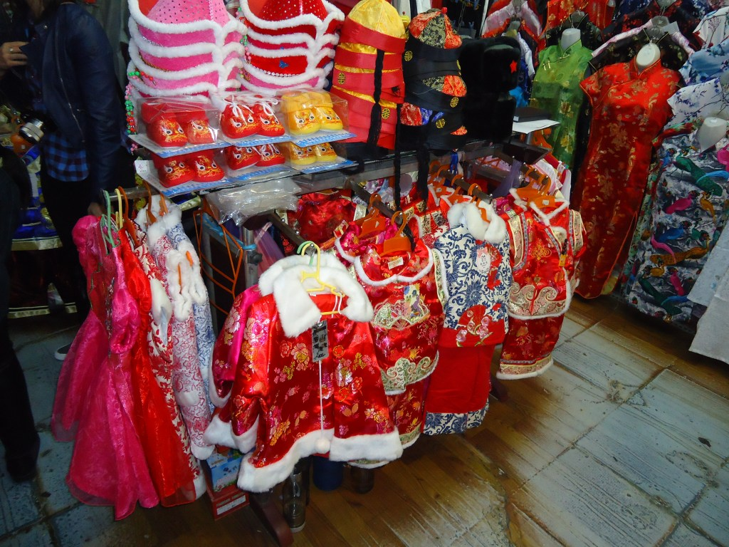 Traditional Chinese red children's clothing