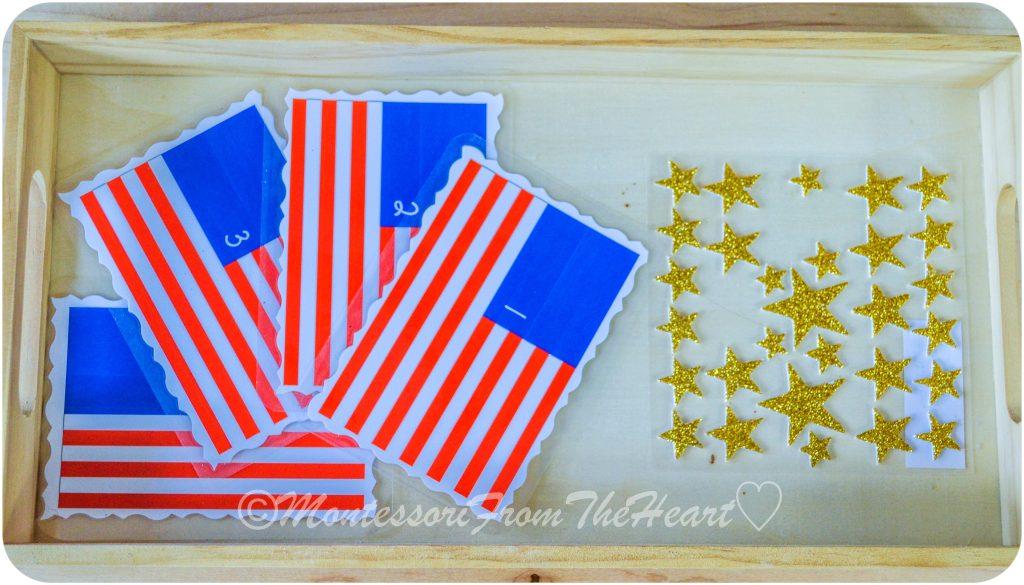 Counting-Stars-American-Flag Preschooler-crafts