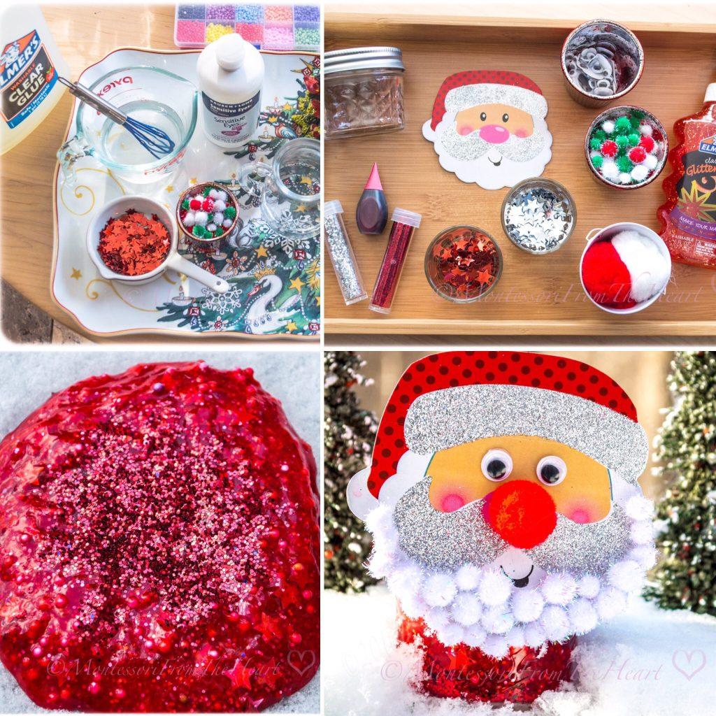 SANTA RED SLIME KIDS STEM CHRISTMAS ACTIVITY