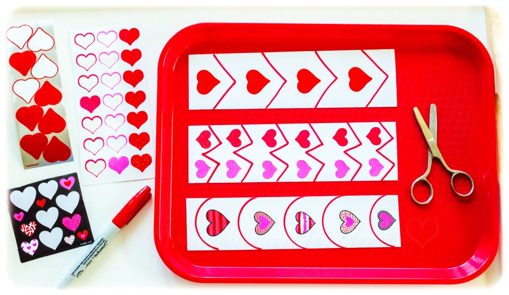 Valentines Heart Stickers-Scissors-Cutting-Kids-Activity