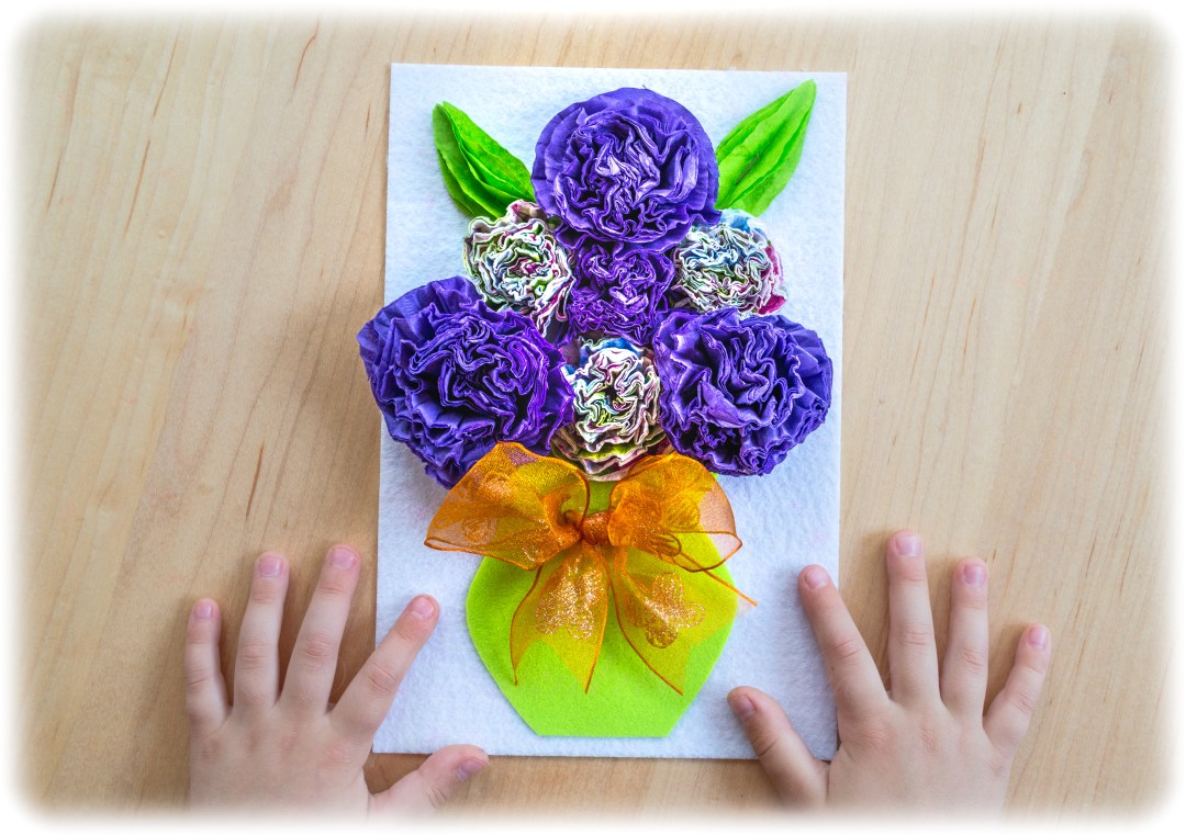 3D-Napkin-Kids-Craft-Process-Art