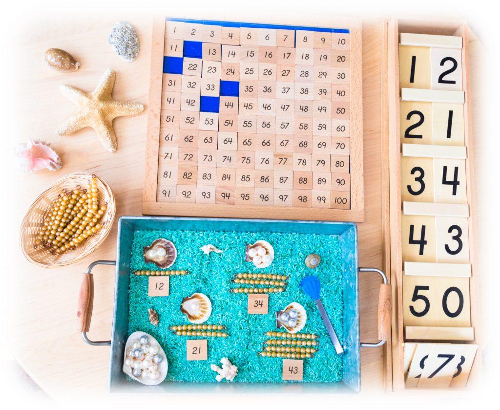 Montessori-Math-Teen-Counting-Seashells
