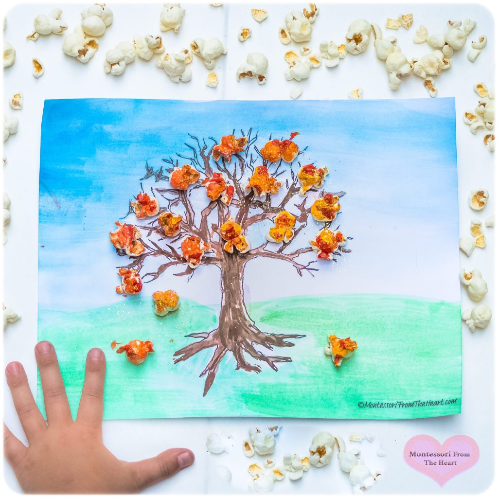 Popcorn-Autumn-Tree-Kids-Crafts