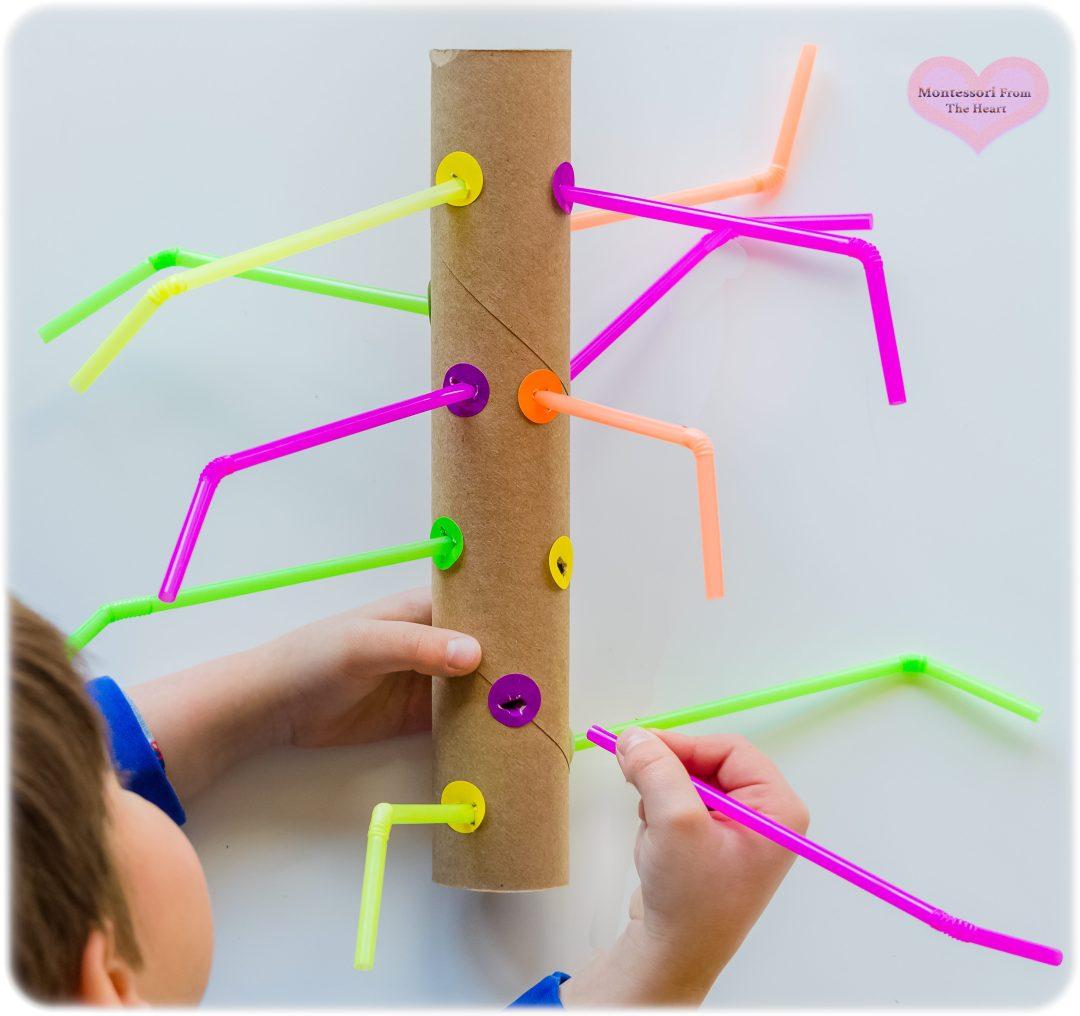 DIY-TPR-Straw-Poke-Toddler-Fine-Motor