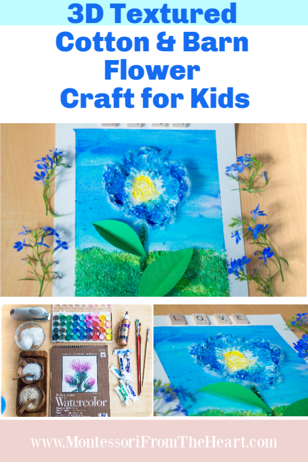 3D-Texured-Cotton-Blue-Flower-Kids Crafts