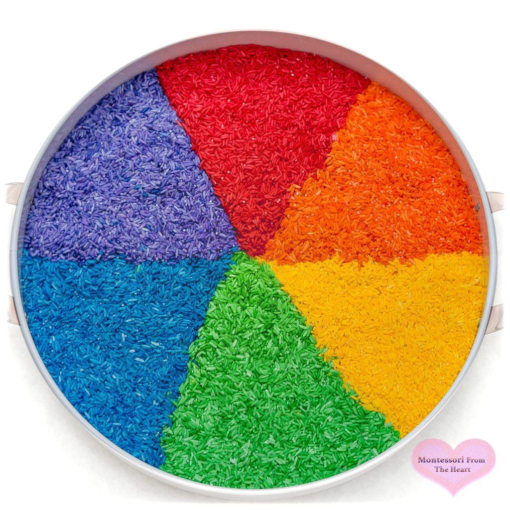 Rainbow-Dyed-Rice-DIY