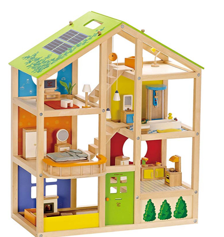 HAPE 3 Story Wooden Dolls House