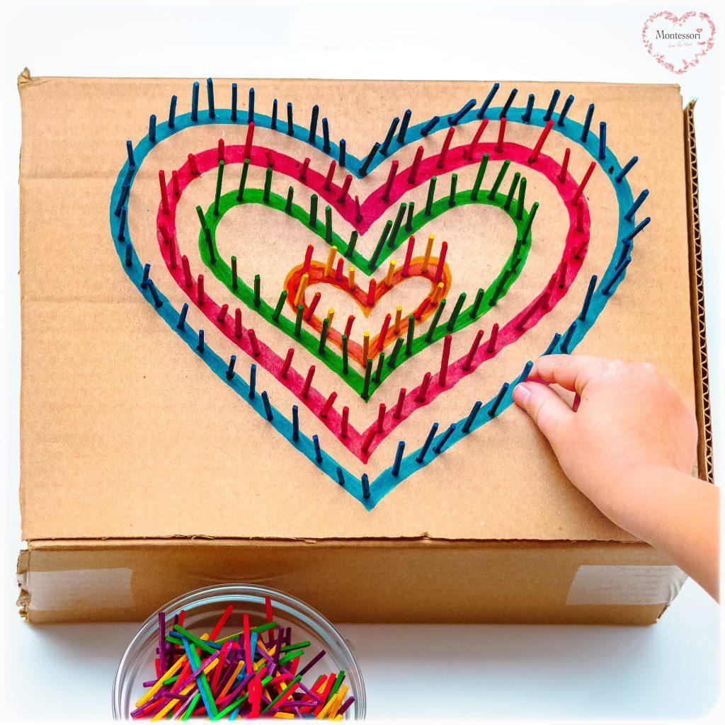 Cardboard Box Hearts Poke