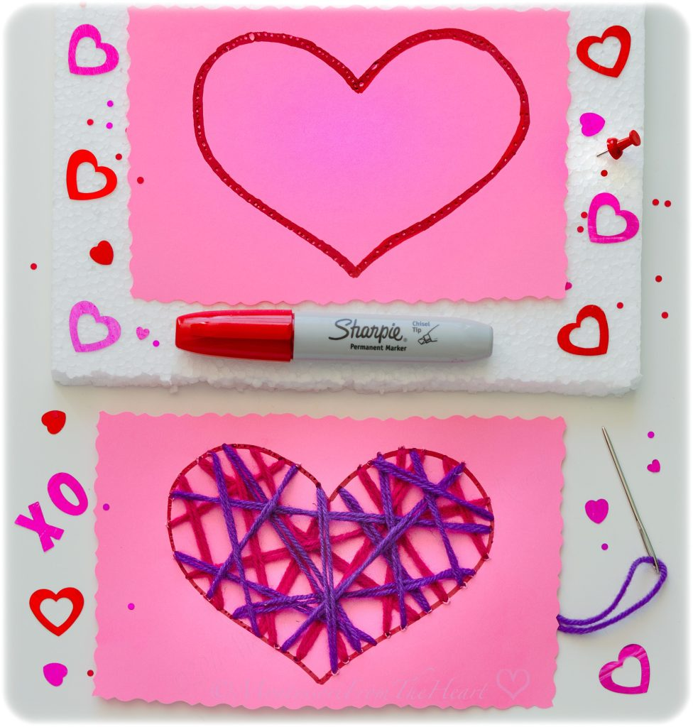 Heart-Needle-Poke-and-Weave-Valentines-Craft