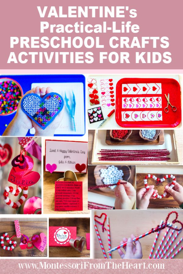 VALENTINE's Practical-Life PRESCHOOL CRAFTS ACTIVITIES FOR KIDS