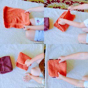 folding cloths Montessori PLA