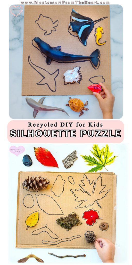Silhouette-Puzzle-DIY Autumn Nature Play