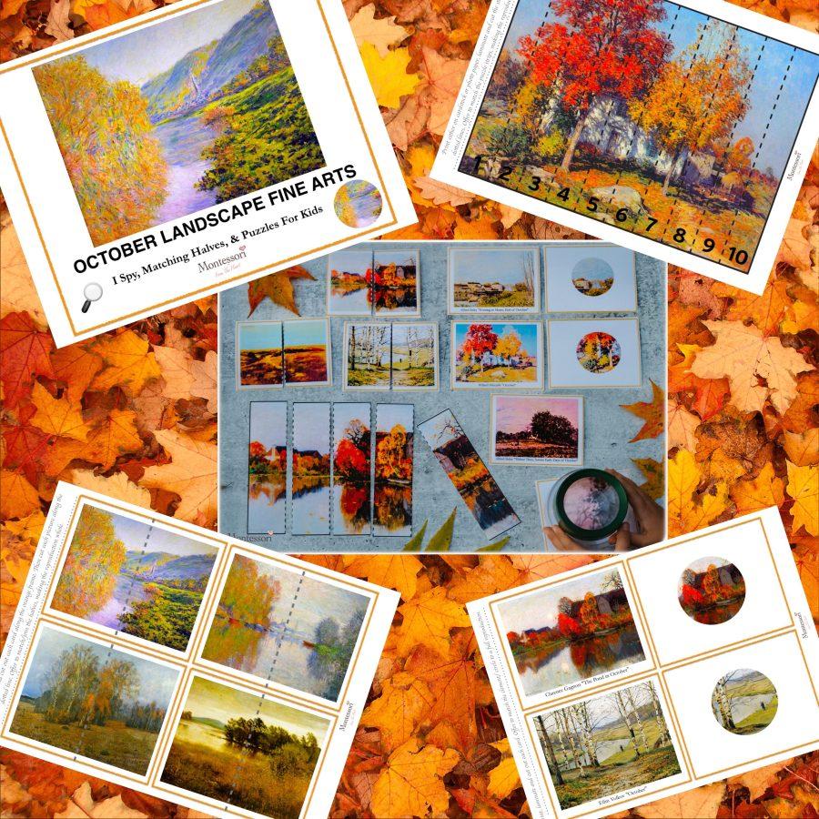 *Autumn Landscape Impressionism Fine Art Printable Pack