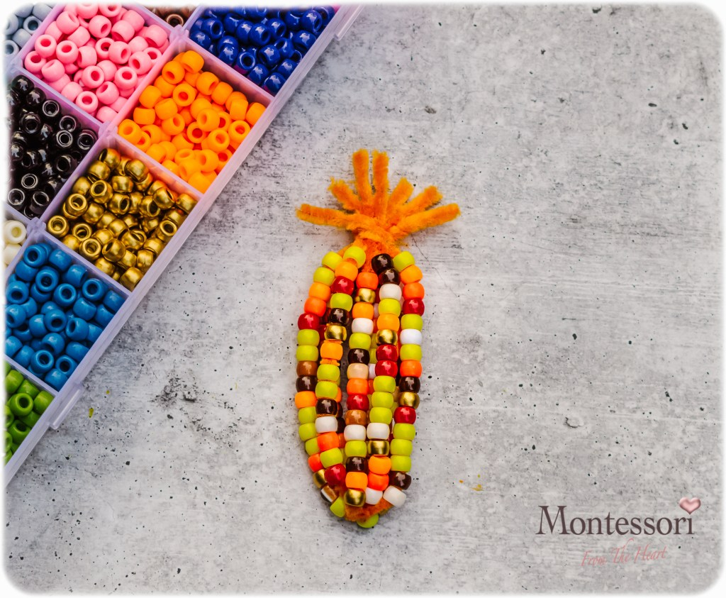 Beaded Pipe-Cleaner Indian Corn