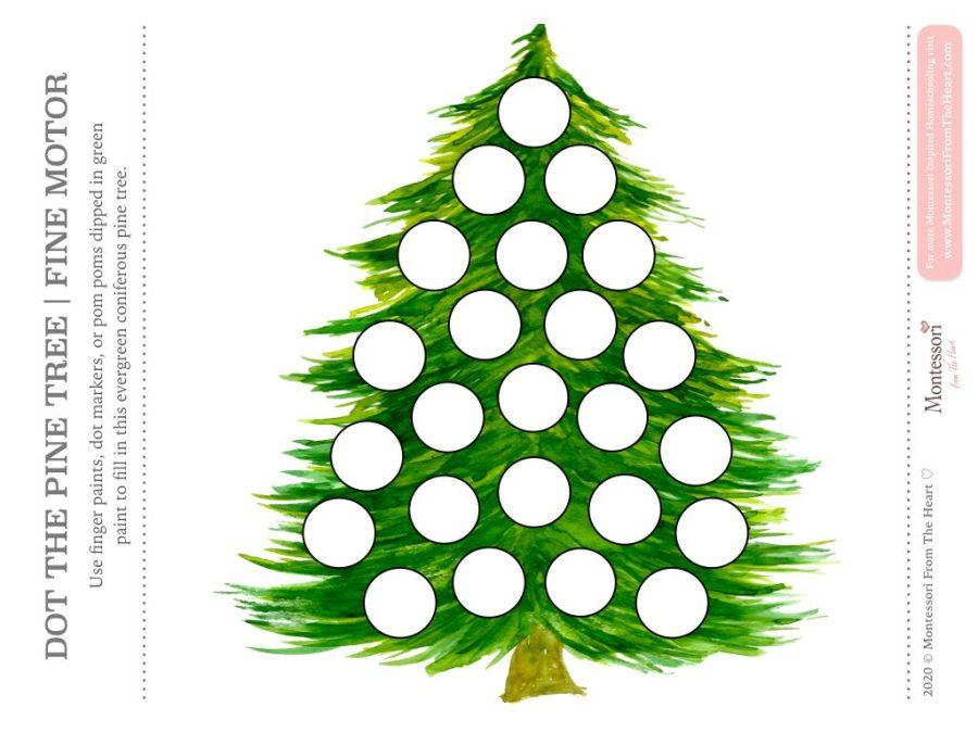 Pine Tree DO A DOT CHRISTMAS Montessori Kids Activity Pack
