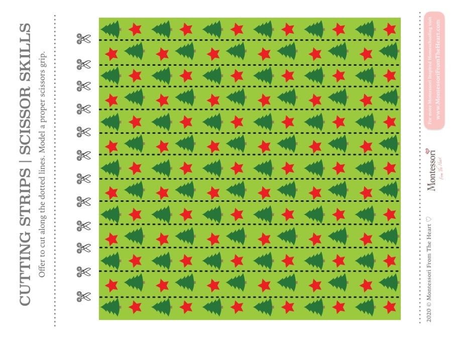 Pine Tress SCISSOR SKILLS | Montessori Christmas Pack